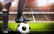 Soccer stadium with footballer - 79117041