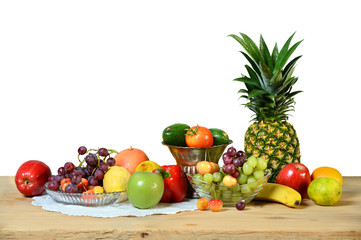 Assortment of Fruits and Vegetables on Table