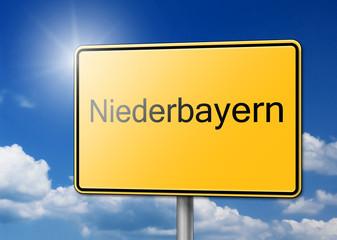 Willkommen in Niederbayern Schild Hintergrund