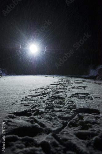 Staande foto Scandinavië Snowshoe hike in winter landscape