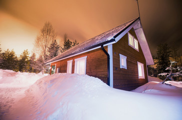 Beautiful scandinavian Finnish swedish norwegian wooden cottage