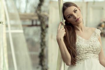 Beautiful portrait of natural woman