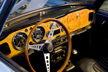 Classic car dashboard.