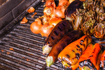 Catalan vegetable grill