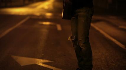 Ampty Night Street guitar player