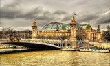 Pont Alexandre lll and Le Grand Palais in Paris, France