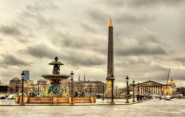 Place de la Concorde with Obelisk of Luxor and fountains - Paris