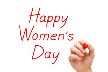 Happy Womens Day Red Marker