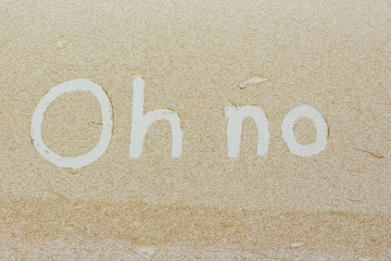 """Oh no"" written on a dirty car"