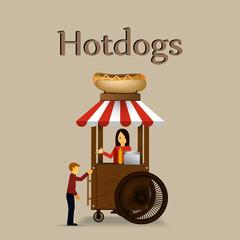Hot dog cart.