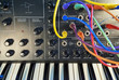 Analog synthesizer with patch cords - 79121237