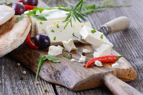 Staande foto Zuivelproducten Käsesnack