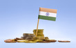 Flag of India in a stack of coins.(series) - 79121627