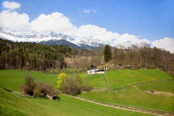Landschaft in den Alpen