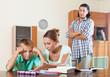 Parents berates her underachiever son