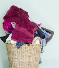 washing fabric in the basket