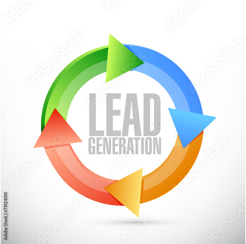 lead generation cycle sign illustration