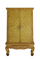 Ornamental golden pattern Thai cabinet