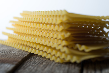 Stack of Pasta Lasagna Noodles
