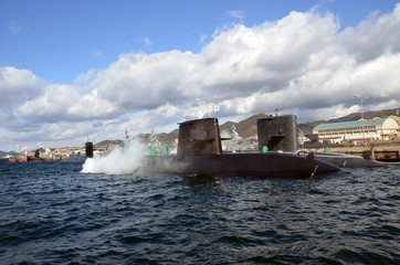 Submarines of the Japan's Navy (JMSDF), Kure, Hiroshima, Japan