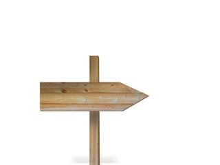 木製の矢印