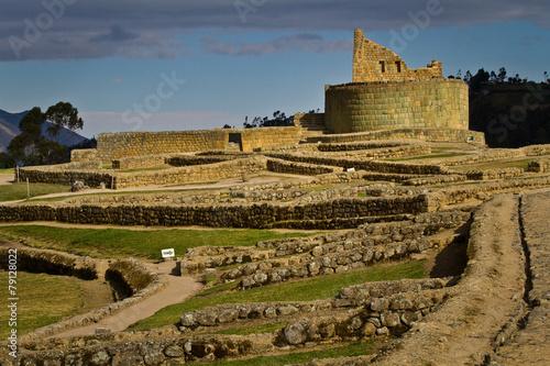 Leinwanddruck Bild Ingapirca important inca ruins in Ecuador