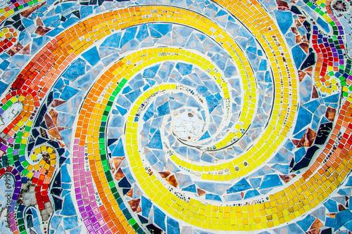 Szkło artystyczne mozaiki na ścianie