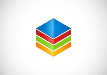 box data storage colorful vector logo