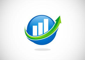 business chart finance arrow vector logo