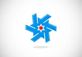 business arrow star circle vector logo