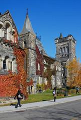 fall scene on university campus