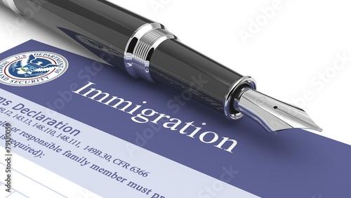 Leinwanddruck Bild Customs document