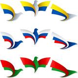Bird Fly Flag Sign Symbol Insignia Ukraine Russia Belarus poster