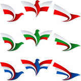 Bird Fly Flag Sign Symbol Insignia Poland Bulgaria Netherlands H poster