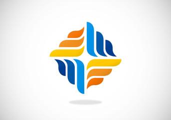 business geometry circle vector logo