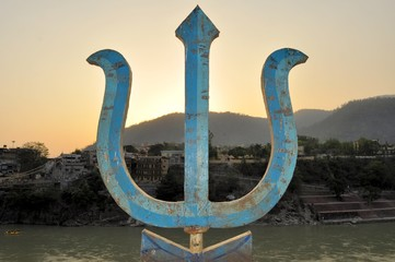 Sacred trident, weapon of Hindu god Shiva