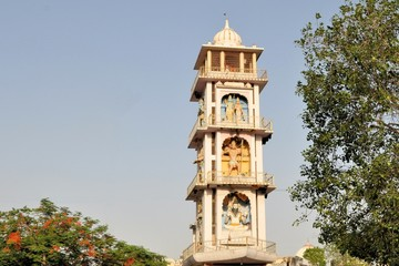 Hindu god tower in Pushkar, Rajasthan, India