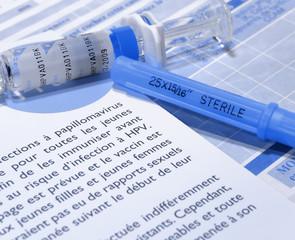 cancer du col de l'utérus:vaccin