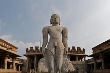 Jain god Gomeshvara in Shravanabelagola, India
