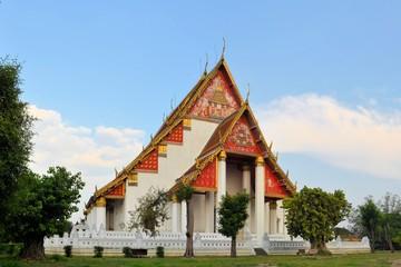 Buddhist Thai temple in former capital Ayutthaya