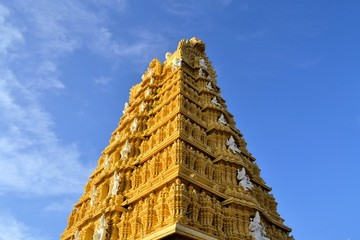 Hindu Temple at Chamundi Hills in Mysore, India