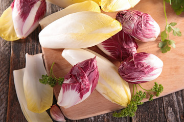 fresh chicory on board