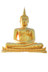 Buddha portrait isolated on white