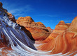 the wave, arizona in winter