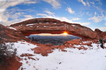 sun rise at mesa arc