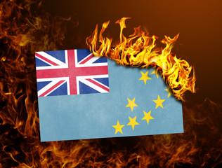 Flag burning - Tuvalu