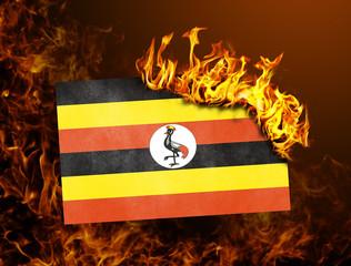 Flag burning - Uganda