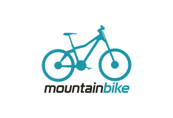 Mountain bike logo vector