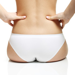 Woman's  buttocks isolated