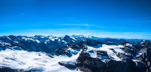 Panorama view of Swiss Alps